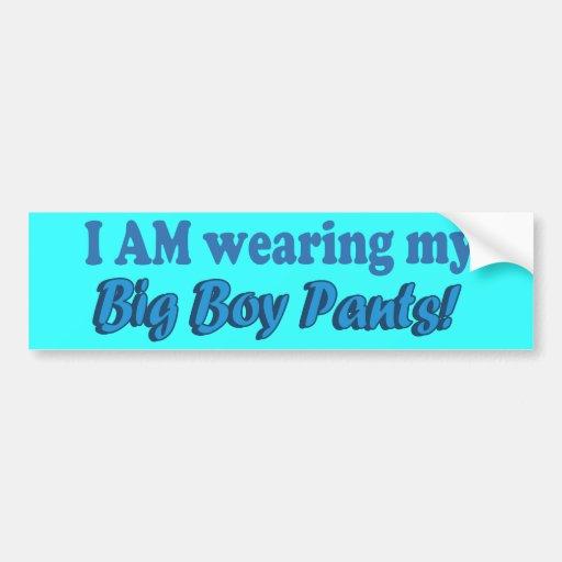 Big Boy Pants Text Design Bumper Stickers