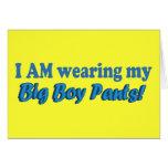 Big Boy Pants Text Design Card