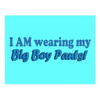Big Boy Pants Text Design Postcard
