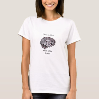 Big Brain intelligent geek girl science humor T-Shirt