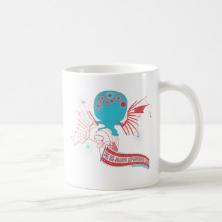 Big-Brained Superhero Da Vinci Flying Avatar Coffee Mug