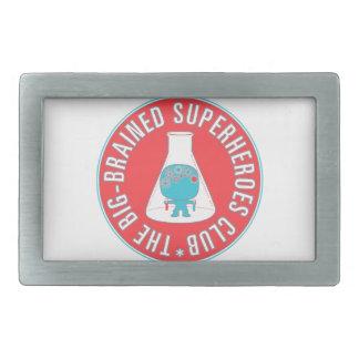 Big-Brained Superheroes Club Button Rectangular Belt Buckle