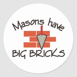 Big Bricks Classic Round Sticker