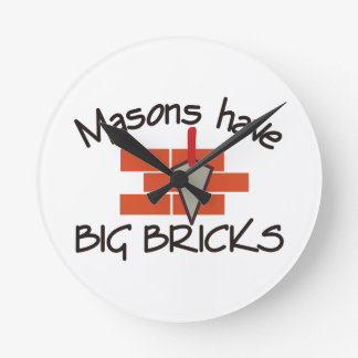 Big Bricks Round Clock