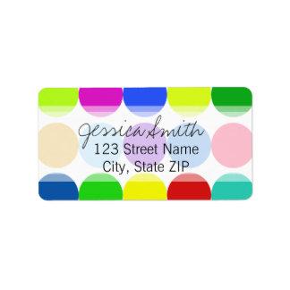 Big Bright Dots Address Label