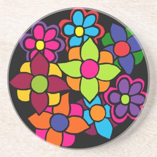 Big Bright Flowers Beverage Coaster