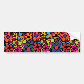 Big Bright Flowers Car Bumper Sticker