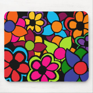 Big Bright Flowers Mouse Pad