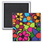 Big Bright Flowers Refrigerator Magnets