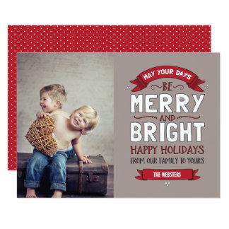 Big Bright & Merry Holiday Photo Card