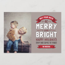 Big Bright & Merry Holiday Photo Card