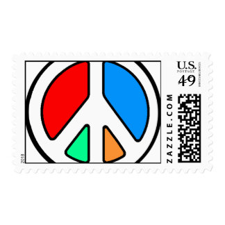 BIG BRIGHT PEACE POSTAGE STAMP
