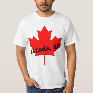 Big Bright Red Maple Leaf Canada eh! T Shirt