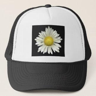 Big Bright White Daisy with Bright Yellow Center Trucker Hat