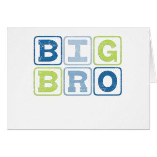 BIG BRO - Big Brother Block Lettering Card