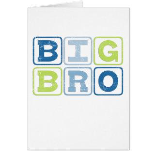 BIG BRO - Big Brother Block Lettering Greeting Card