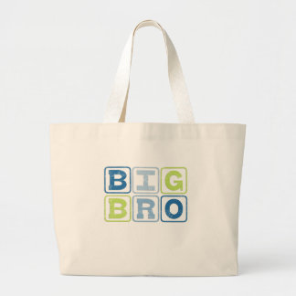 BIG BRO - Big Brother Block Lettering Large Tote Bag
