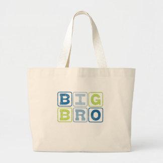 BIG BRO - Big Brother Block Lettering Large Tote Bag