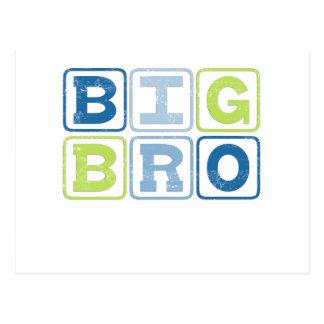 BIG BRO - Big Brother Block Lettering Postcard