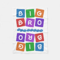 Big Bro custom name fleece blanket