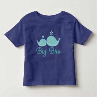 Big Bro Nautical Whales Brother Boys T-shirt