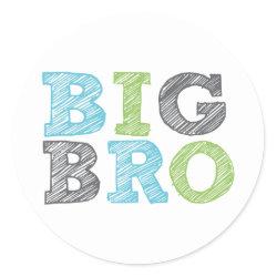 Big Bro Round Sticker