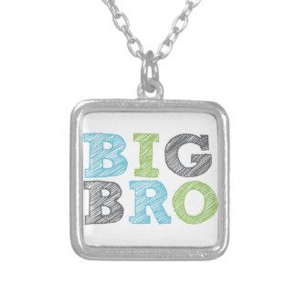 Big Bro Square Pendant Necklace