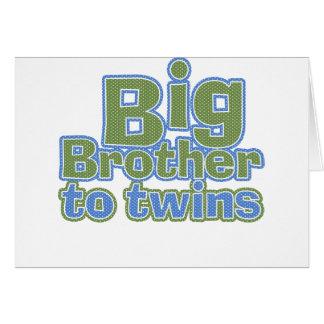 Big Bro - Twins Greeting Card