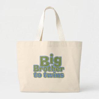 Big Bro - Twins Large Tote Bag