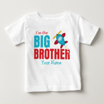 Big Brother Airplane Personalized Baby T-Shirt