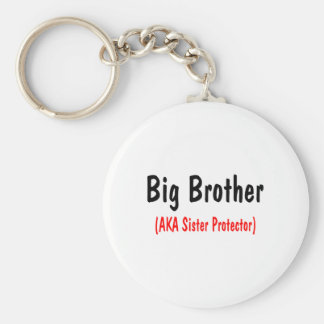 Big Brother (AKA Sister Protector) Basic Round Button Keychain