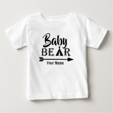 Big Brother Arrow Bear Personalized Baby T-Shirt