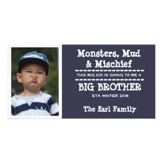 Big Brother Baby Arrival Announcement Card