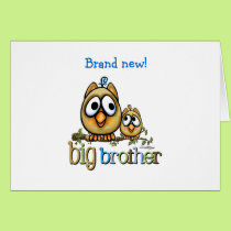 Big Brother - Baby Bro Owls Card