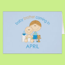 Big Brother Baby Brother Due in April Card