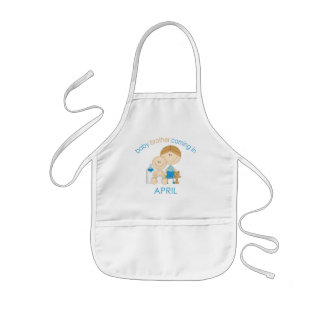 Big Brother Baby Brother Due in April Kids' Apron