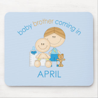 Big Brother Baby Brother Due in April Mousepads