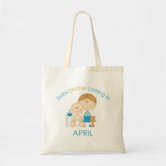 Big Brother Baby Brother Due in April Tote Bag