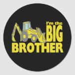 Big Brother Backhoe Classic Round Sticker