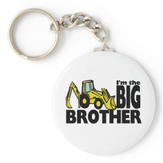 Big Brother Backhoe Keychain