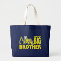 Big Brother Backhoe Large Tote Bag