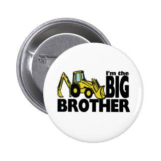 Big Brother Backhoe Pinback Button