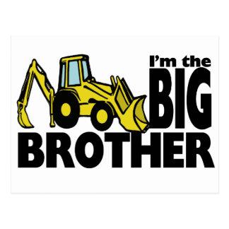 Big Brother Backhoe Postcard