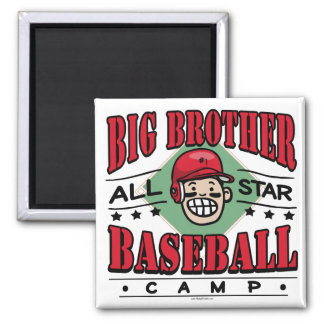 Big Brother Baseball Red Helmet Magnet