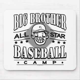 Big Brother Baseball White Helmet Mouse Pad