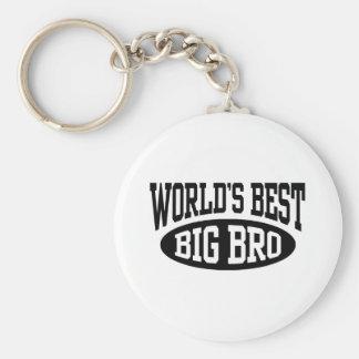 Big Brother Basic Round Button Keychain