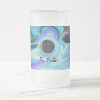 BIG BROTHER   BEER MUG!! OUT OF THE BOX FROSTED GLASS BEER MUG