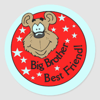 Big Brother Best Friend T-shirts and Gifts Classic Round Sticker
