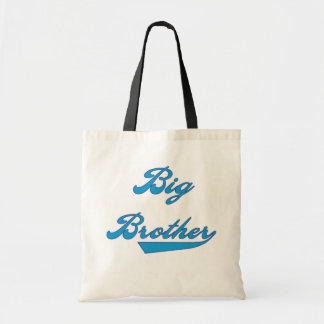 Big Brother Blue Text Tshirts and Gifts Canvas Bag