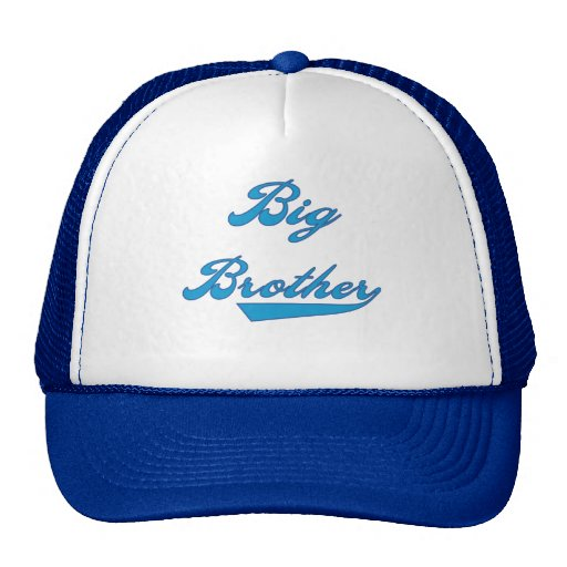 Big Brother Blue Text Tshirts and Gifts Mesh Hat
